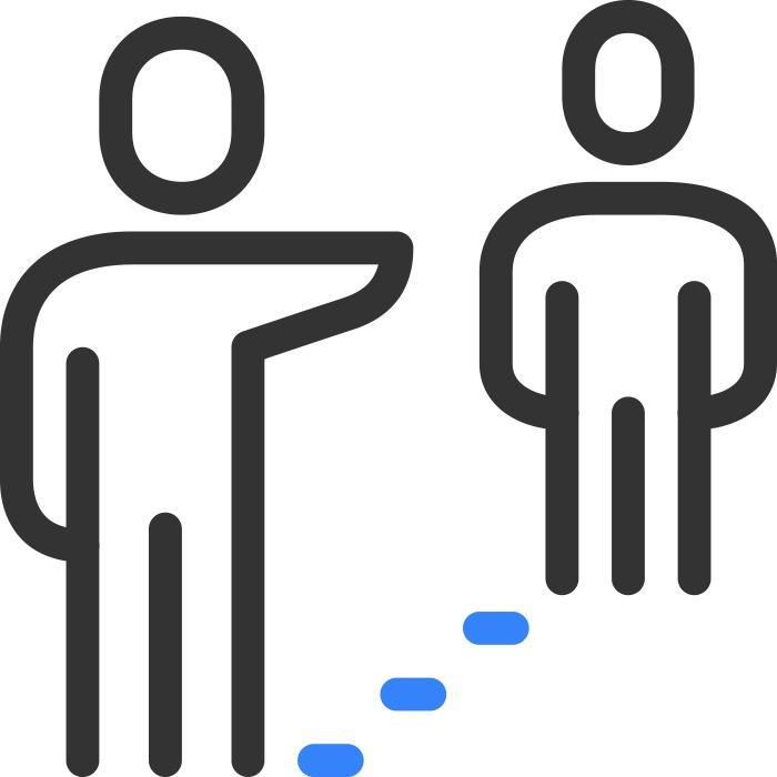 Mantén la distancia social con los demás