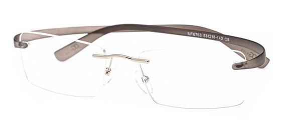 Armação Oculos Ogrife Og 1747-c Masculino Com Lente Sem Grau