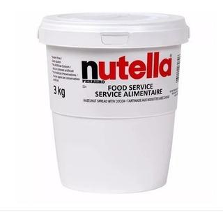 Nutella 3 Kg Balde Gigante Original Promoção Mês De Férias