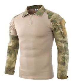 Camisa Playera Tactica Militar Combate Gotcha Airsoft Jersey