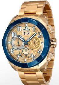 Relógio Masculino Dourado Seculus Upper 13009gpsvla2