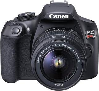 Kit Camara Canon Eos Rebel T6 + 2 Lentes + Mochila + Sd 16gb