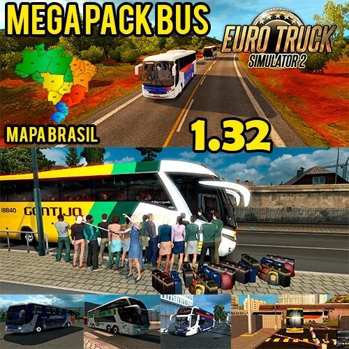 Euro Truck Simulator 2 - Mod Bus + Mapa Brasil V. 1.32