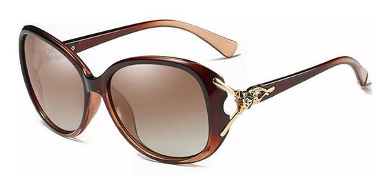 Óculos De Sol Feminino Degradê Original Uva Uvb Polarizado Oncinha