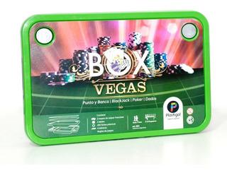 Juego De Mesa Box Las Vegas Poker - Dados - Blackjack - Punt