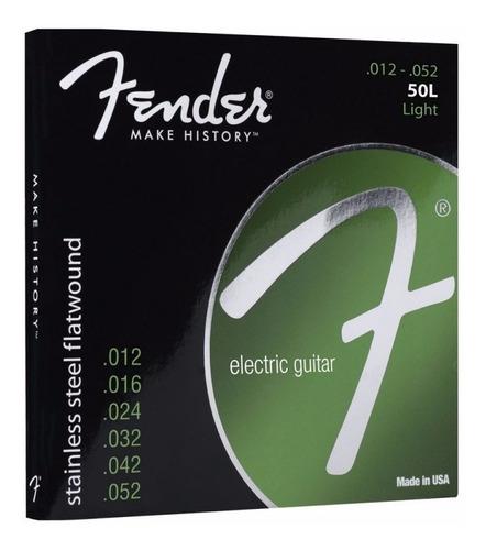 Encordado Guitarra Eléctrica Fender 50l .012 - .052 Flat