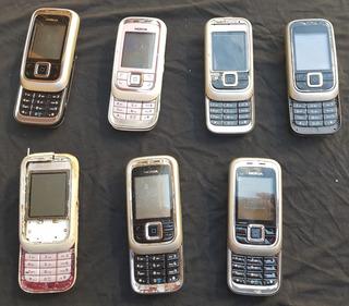 Lote Com 7 Celulares Nokia 6111 (leia A Descrição)