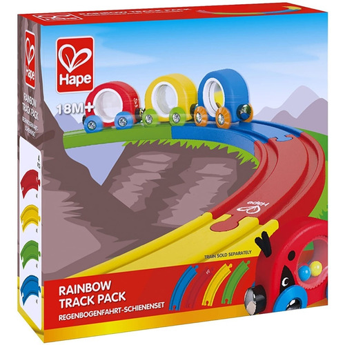 Vias Pack Arcoiris Hape E3804 Trenes Encastrable Edu Full