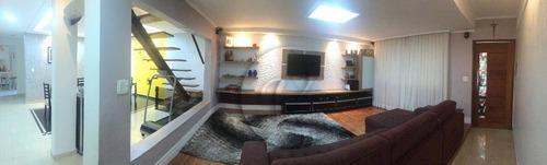 Sobrado Com 3 Dormitórios À Venda, 187 M² Por R$ 819.000 - Vila Scarpelli - Santo André/sp - So0699