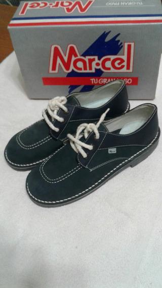 Zapatos Escolares Colegial Marcel 38 Azul (25 Cm)