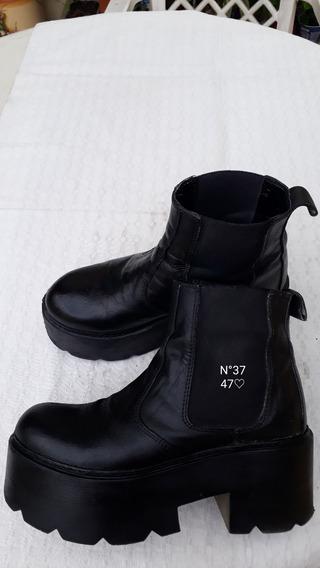 Botas De Mujer 47 Street N 37 Con Detalle. En Domínico Avell