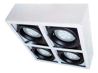 Plafon Cardanico Ar111 4 Luces Blanco Techo Exterior Gu10