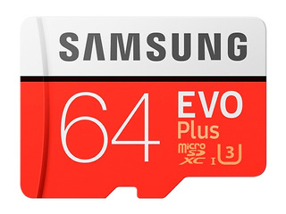 Micro Sd Samsung 64gb U3 Evo Plus 100/60mbs Class 10 4k