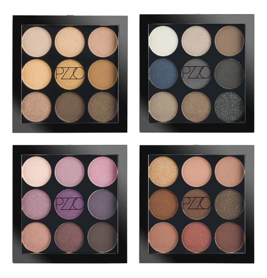 Paletas Sombras X 9 Petrizzio Pack 4 Colores