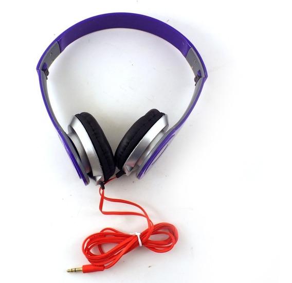 Headphone Ltomex A-567 Dobrável Roxo Cabo 150cm A10108