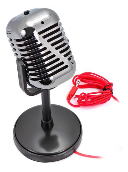 Microfone De Estudio P2 Pc Trust Vintage Celular Computador