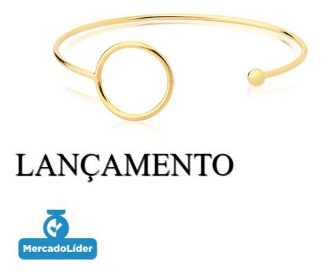 Pulseira Bracelete Feminino Banhado A Ouro