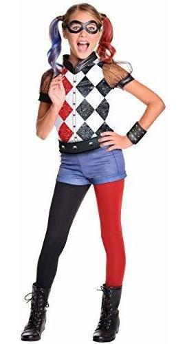 Imagen 1 de 3 de Disfraz De Harley Quinn De Superhéroe Chica De Dc De Rubie,