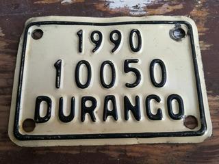 Placa De Bicicleta Año 1990 Lámina Matricula Coleccion