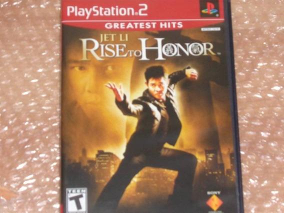 Rise To Honor - Jet Li - Ps2 - Frete R$ 17
