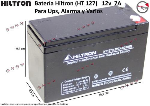 Imagen 1 de 9 de Batería Hiltron (ht 127)   12v  7a Para Ups, Alarma Y Varios