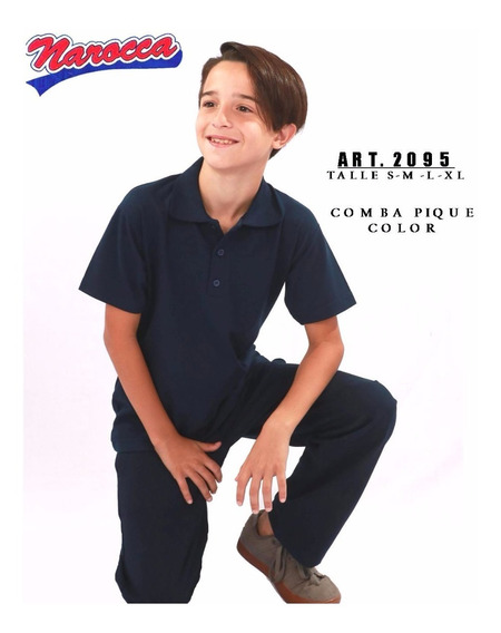 Chomba Pique Color Narocca Pack 2095 X 2 Colegial