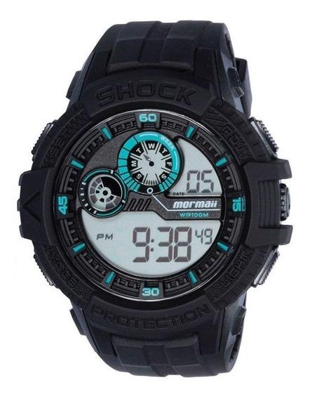 Relógio Masculino Preto Com Azul - Mormaii