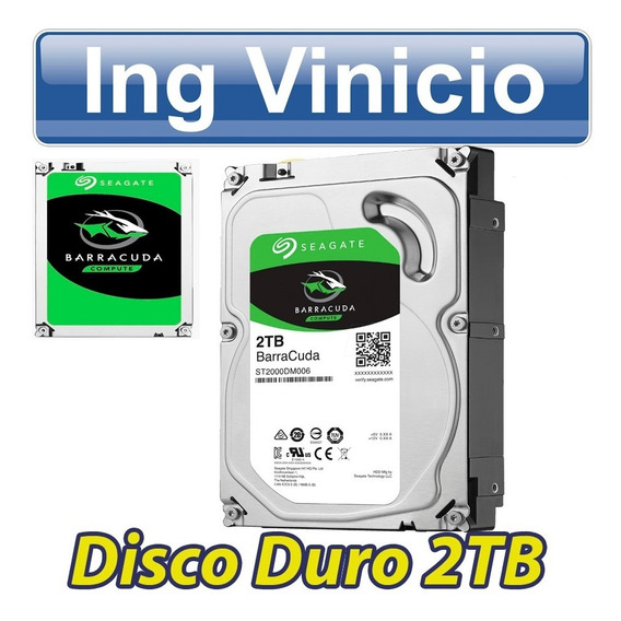 Disco Duro Sata 2tb 2000gb Seagate Barracuda 3.5 Para Pc