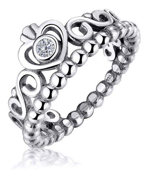 Anel Tiara Coroa Pura Prata 925 Zirconia - Exclusivo - Compre Joias Direto Da Fábrica E Economize Dinheiro