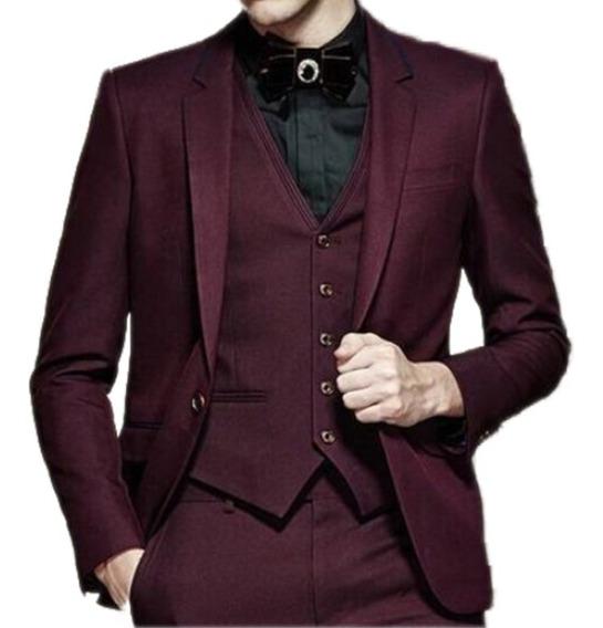 Blazer Masculino Slim Fit Cotele Cor Bordô
