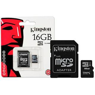 Kingston Cartão Micro Sd Card Com Adaptador 16gb #