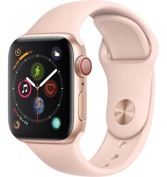Relógio Apple Watch S4 40mm Rosa Serie 4 Barato + 2 Brinde
