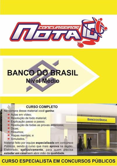 Apostila + Video Aulas - Banco Do Brasil - Escrituário