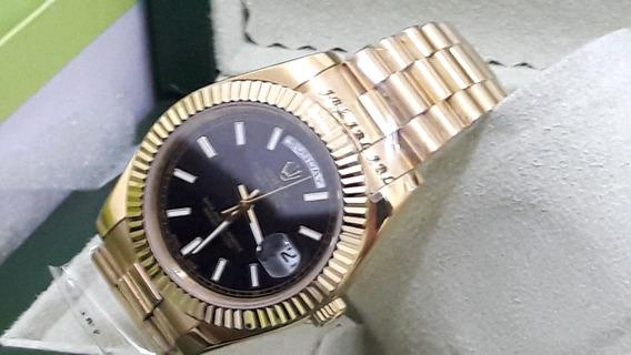 Relógio Rolex Automático Aço Inox Caixa Original E Certif