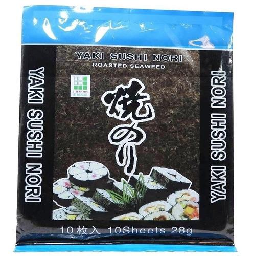 Algas Para Sushi Yaki Nori - 10 Láminas Premium