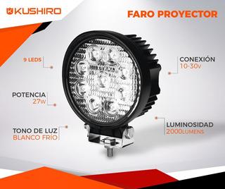Faro Auxiliar Proyector 9 Led - 27 W | Off Road | 12v / 24v