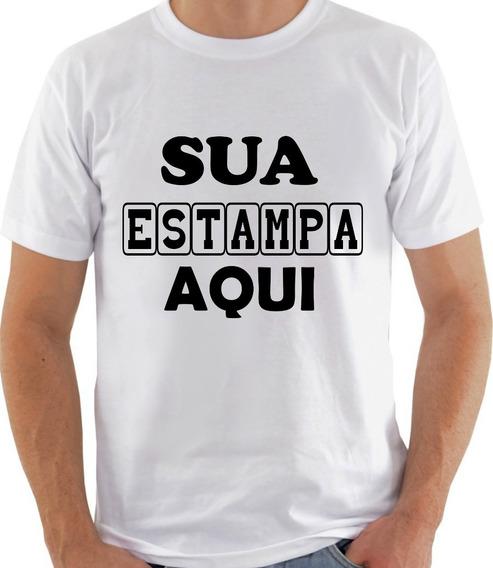 Camiseta Personalizada Com Sua Estampa Foto Arte Texto 12und