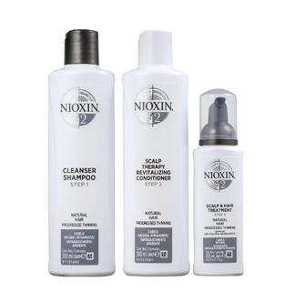 Kit Nioxin 2 Sh 300ml + Cond 300ml + Scalp 100ml + Brinde
