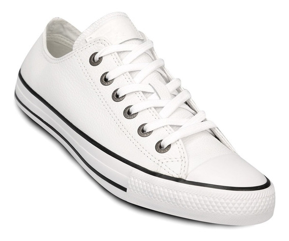 Converse Leather Ox Cuero Blanco Y Negro!! @