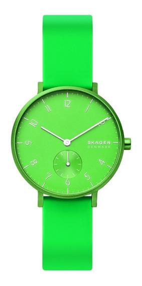 Reloj Unisex Skagen Aaren Kulor Neon Skw2819 Color Verde