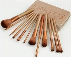 Kit Com 12 Pincel Naked 3 Power Brush - Frete Grátis
