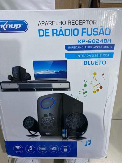 Caixa De Som Com Usb Bluetooth 14w Kp-6024bh