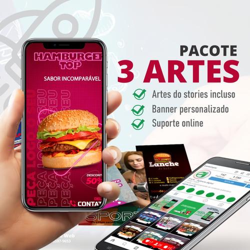 Imagem 1 de 3 de Pacote Com 3 Artes Para Rede Social