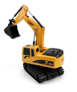 Excavadora A Control Remoto, D/juguete, Recargable, Amarillo