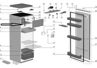 Arremate Evaporador Refrigerador Electrolux Re26 Re28 Re29