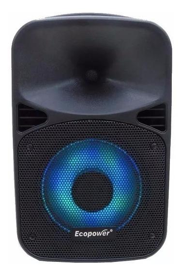 Caixa De Som Ecopower Ep-s308 8 Rádio Fm/bluetooth/usb