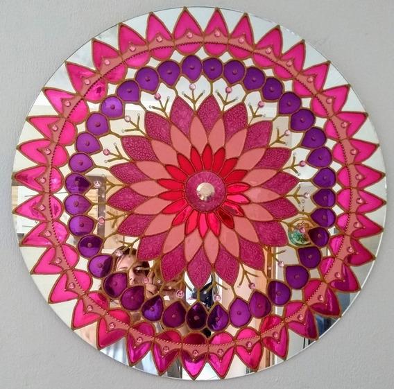Mandala De Espelho Rosa/roxa 0,60 Cm