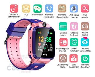Relogio Criança Smartwatch Menina Infantil Gps Localizador