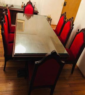 Comedor/ Mesa/ Living Antiguo Madera