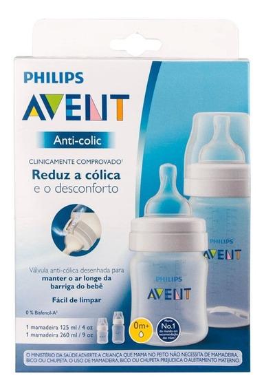 Kit Mamadeiras Anti-colic 125 E 260ml Transparente